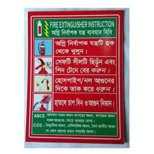 Fire Extinguisher Instruction/User Manual Board/Chart