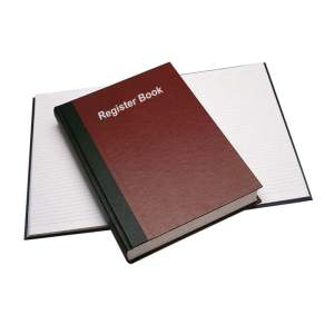 Leather Binding Register Book