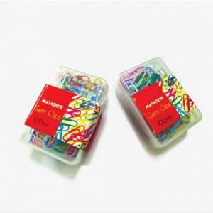 Matador Gems Clips Plastic Box -100 Pcs box