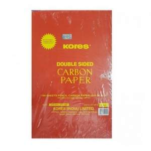 Kores Double Sided Pencil Carbon Paper Black - 29/II