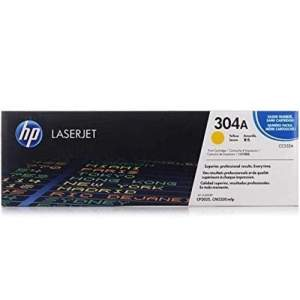 Color Laser Genuine HP Toner -304A Yellow