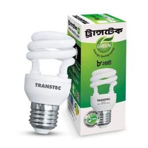 Transtec Green CFL Energy Saving Light-8 watt